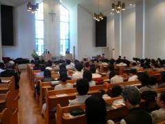 若枝教会・第二礼拝の様子